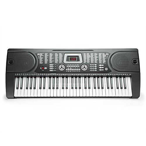 Hamzer 61-Key Portable Electronic Keyboard Piano with Stand, Stool, Headphones & Microphone - Image 2