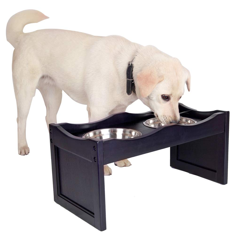 Petsfit Elevated Dog Feeding Station with 2 Replaceable Stainless Steel Bowls for 10 Inches Height Dogs, 1-Year Warranty by Petsfit