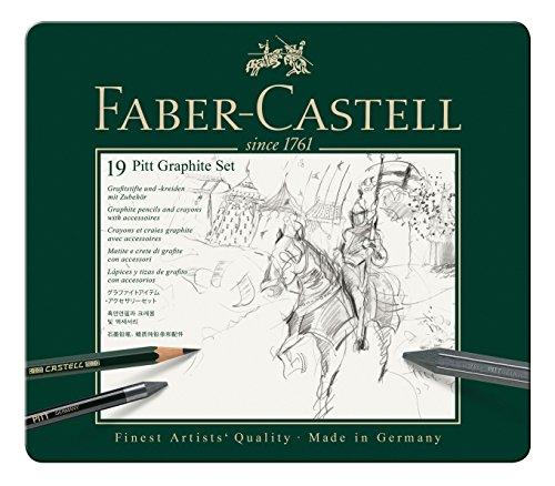 Faber-Castel 19 Piece PITT Graphite Tin Set