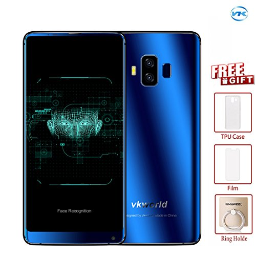 VKworld S8 4GB+64GB 5.99 inch Full Screen Dual Back Cameras Android 7.0 MTK6750T Octa Core up to 1.5GHz WCDMA & GSM & FDD-LTE (Blue)