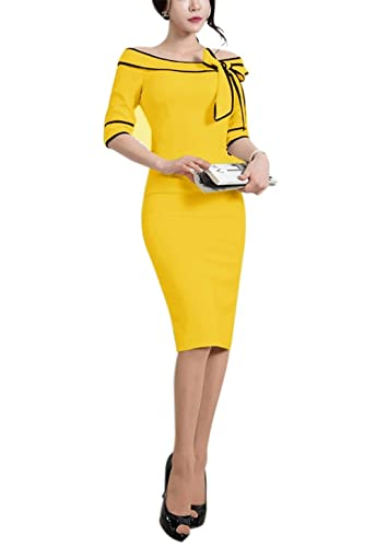 Women's 1950s Slim Half Sleeve...