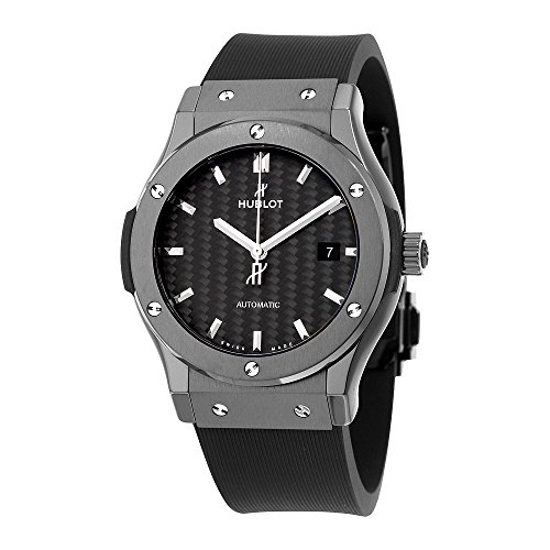 Hublot Classic Fusion Automatic Black Carbon Fiber Dial Black Rubber Mens Watch 542.CM.1771.RX