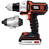 Black & Decker BDCDMT120IA 20-Volt MAX Lithium-Ion Matrix Drill and Impact Combo Kit by BLACK+DECKER