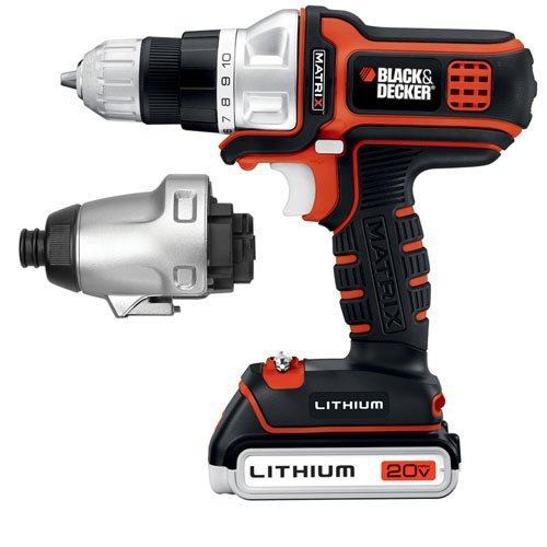 Black   Decker Bdcdmt120ia 20 Volt Max Lithium Ion Matrix Drill And Impact Combo Kit By Black Decker