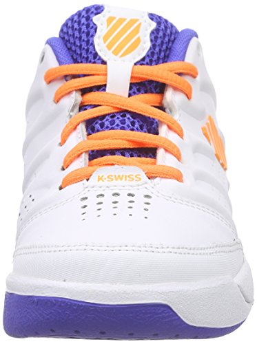 K-Swiss Performance Ultrascendor Omni Jr - Zapatillas de tenis Niños Blanco - Weiß (WHITE/ELECTRICBLUE/ORANGE)