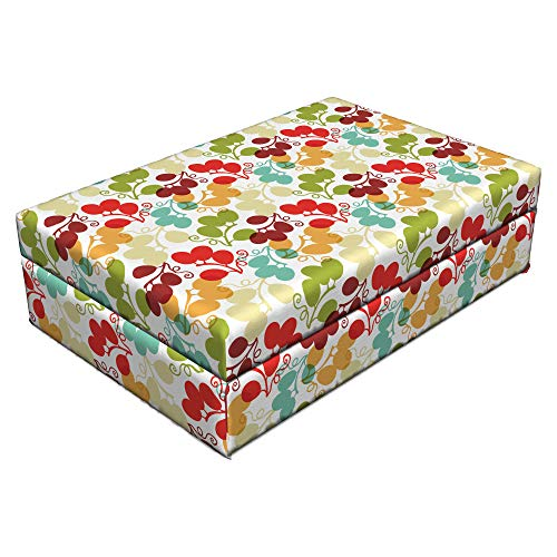 (Lunarable Vineyard Pet Bed, Mix of Swirled Bunch of Grapes Icon Kid Theme Sweet Blend Exotic Flavor Design, Animal Mat Foam and Stylish Printed Cover, 24