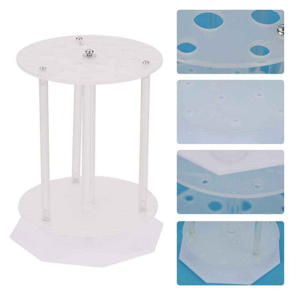 Acogedor Pipette Holder,PMMA Pipette Stand Rack,Scientific Laboratory Vertical Rotatable Pipette Holder,3 Different Diameter,Holds 28 pipettes.