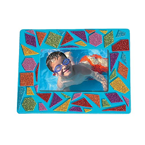 (Fun Express - Mosaic Foam Picture Frames- 24 pc - Craft Kits - Stationary Craft Kits - Frame - 24 Pieces)