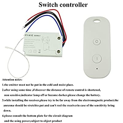 Wireless Remote Switch Control 110V for Fluorescent Lamp, halogen Lamp, Incandescent Lamp,LED Pool Light