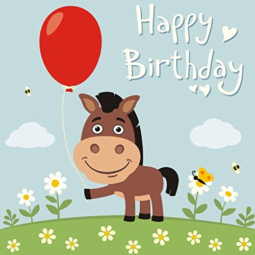 Happy Birthday: Guest Message Book Log Keepsake Notebook For Family and Friend to Write In (Celebrations Guest) - Donkey Keepsake