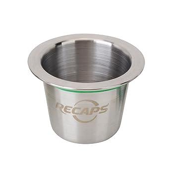 RECAPS--Cápsulas Reutilizables Cápsulas Recargables de Acero Inoxidable Conciliable con máquinas Nespresso (1 cápsula +120 Sellos): Amazon.es: Hogar