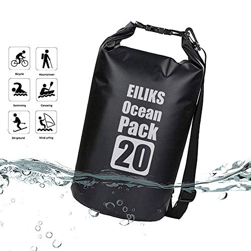 EILIKS Outdoor Floating Waterproof Dry Bag 20L,...
