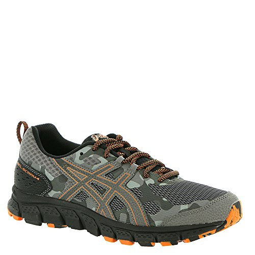 ASICS 1011A045 Men's Gel-Scram 4 Running Shoe, Carbon/Lava Orange, 10.5 M US