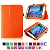 Fintie Slim Fit Folio Case Cover Support Automatic Sleep/Wake Feature for Samsung Galaxy Note 8.0 inch Tablet GT-N5100 / N5110 - Orange