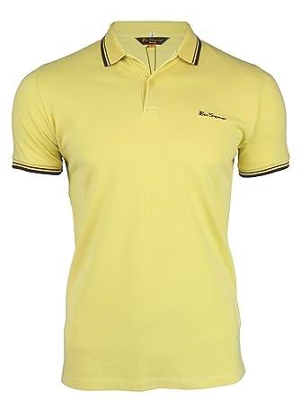 Ben Sherman Herren Poloshirt Kurzarm Yellow Sand 4xl Standard