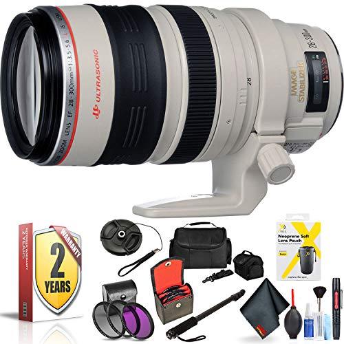 Canon EF 28-300mm F/3.5-5.6L is USM Lens for Canon 6D, 5D Mark IV, 5D Mark III, 5D Mark II, 6D Mark II, 5Dsr, 5Ds, 1Dx, 1Dx Mark II + Accessories (International Model + 2 Year Warranty)