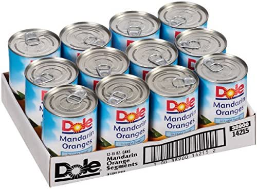 Dole Mandarin Oranges in Light Syrup, 15 Ounce Cans (Pack of 12)