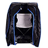 Black Quality Far Infrared FIR Portable Sauna Spa Steam Steamer Folding Chair Foot Massager Foot Heating Pad Remote Control Home Therapeutic Indoor Relaxation Therapy Pot Machine Heater Body Slimmer