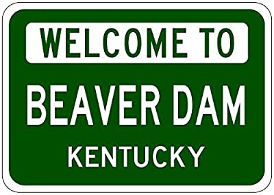 "Metal Signs Beaver Dam, Kentucky - Usa Welcome To Sign - Heavy Duty - 12""X18"" Quality Aluminum Sign"