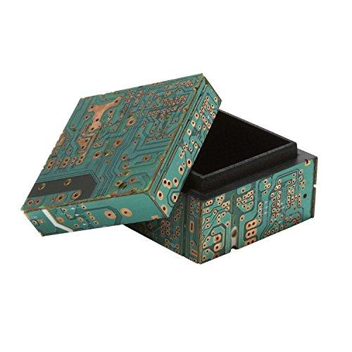 Ten Thousand Villages Repurposed Computer Parts Box 'Circuit Board Keepsake Box'