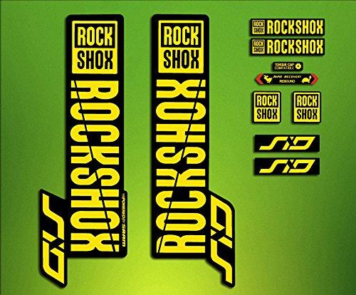 PEGATINAS STICKERS Federgabel Rock Shox SID 2018elx65Fork Aufkleber Decals MTB blau ELX STICKERS