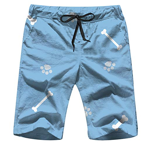 Bright Wide Vintage Animals Peony Swim Trunks for Men Quick Dry Surf Board Shorts No Mesh Lining Beach Wear M ()