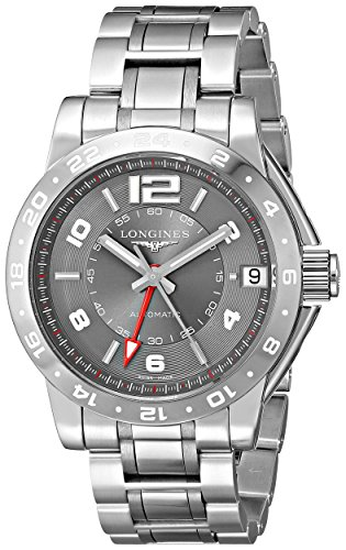 Longines Swiss Watches - Longines Men's L36694067 Admiral Analog Display Swiss Automatic Silver Watch