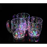 X&L Water - induced light cup Beer Cup night club creative green plastic cup gift cups (battery purchased by the buyer)