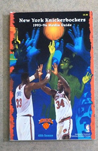 NEW YORK KNICKS NBA BASKETBALL MEDIA GUIDE 1993 1994 NEAR MINT
