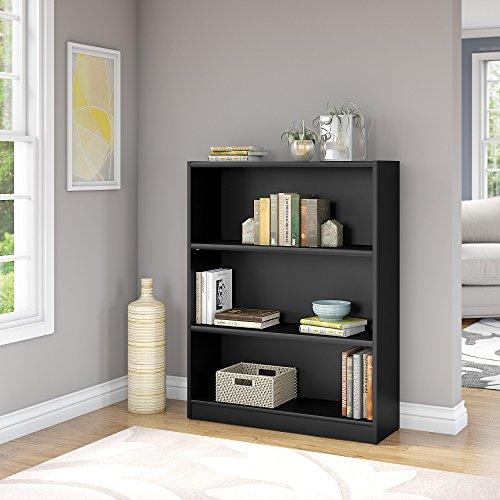 Bush Furniture WL12437-03 Universal Bookcase, Classic Black Bush Modern Bookcase