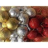 Decoraciones para el árbol de Navidad de chocolate con leche Baubles x 100