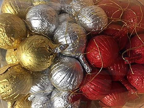 Decoraciones para el árbol de Navidad de chocolate con leche Baubles x 100: Amazon.es: Alimentación y bebidas