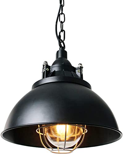 Wereal Metal Pendant Lighting Black Warehouse Barn Light Fixture Antique Industrial Hanging Lamp Shade