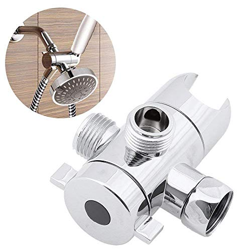 - Euone  Shower Diverter, 1/2 Inch Three-Way Shower Head Diverter Mount Shower Arm Valve Fix Bracket