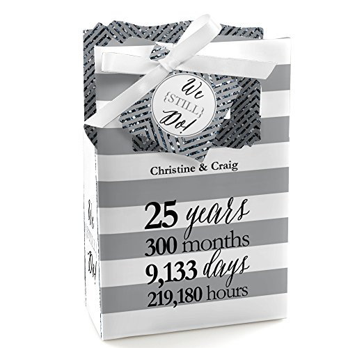 Custom We Still Do - 25th Wedding Anniversary - Personalized Anniversary Party Favor Boxes - Set of 12 25th Anniversary Favor Boxes