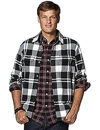 Men's Classic Fit Plaid Microfleece Shirt Jacket