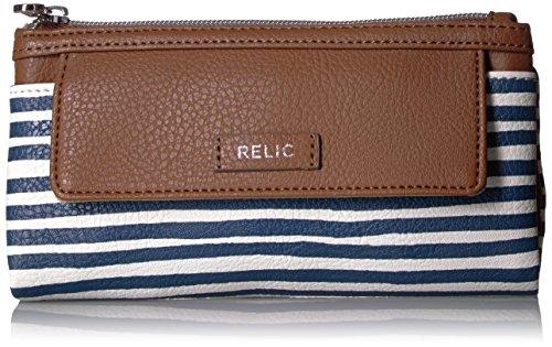 - Bryce Checkbook Wallet, Navy Stripe, One Size