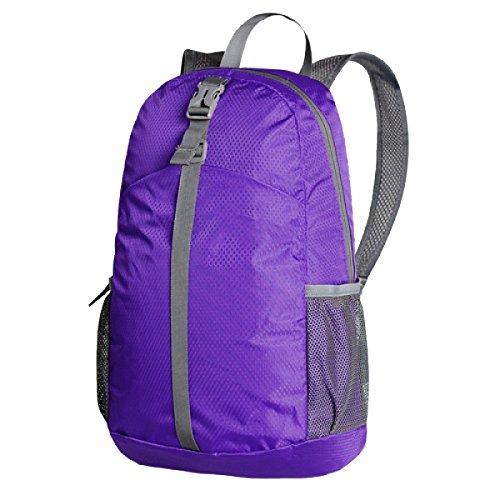 Xin.S20L Clásico Casual Plegable Bolso De Hombro Ultra-ligero Bolsa De Piel Durable Almacenamiento Portátil Mochila Alpinismo. Multicolor Purple
