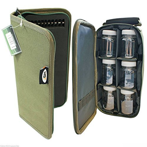 Lidsters Fishing Supplies Fishing 6 Glug Pots + Green Holder Bag + Stiff Rig Wallet + 20 Pins