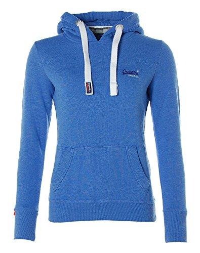 SUPERDRY Orange Label Primary Hood, Ropa Interior de Deporte para Mujer Azul