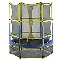 Upper Bounce UBSF01-55 55-Inch Kid-Friendly Trampoline and Enclosure Set Equipped with Easy Assemble Feature