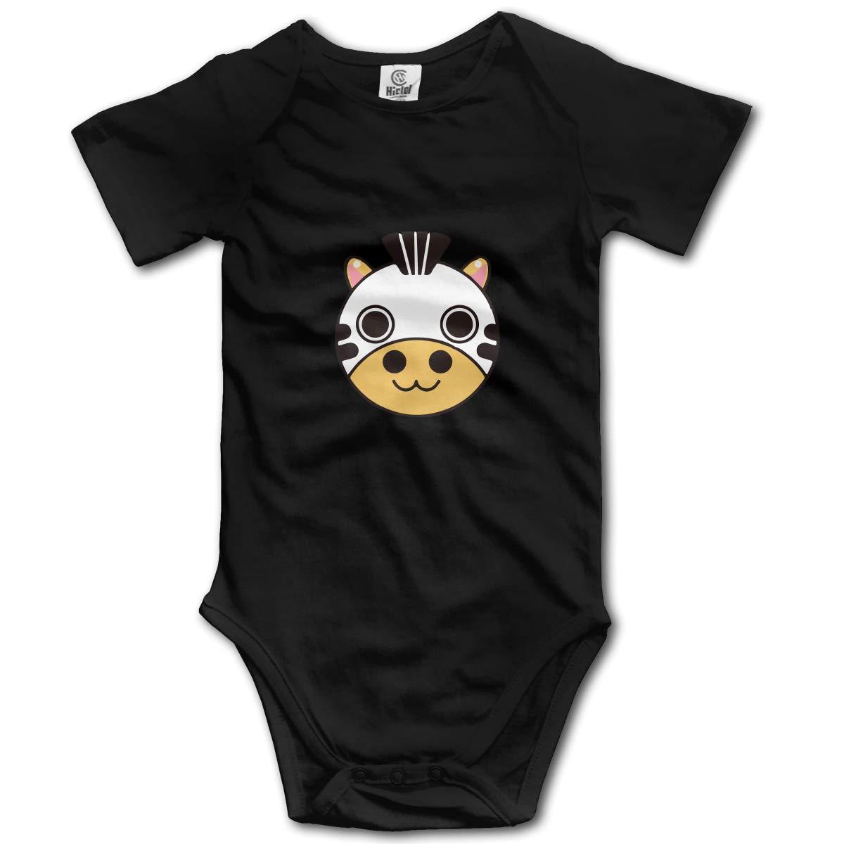 XHX Newborn Baby Cartoon Cow Face Short Sleeve Romper Onesie Bodysuit Jumpsuit