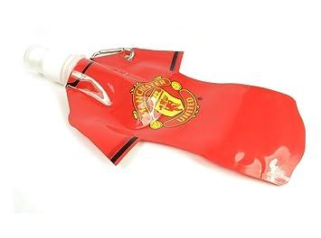 Manchester United FC camisa hombre bebidas agua plana oficial botella de fútbol