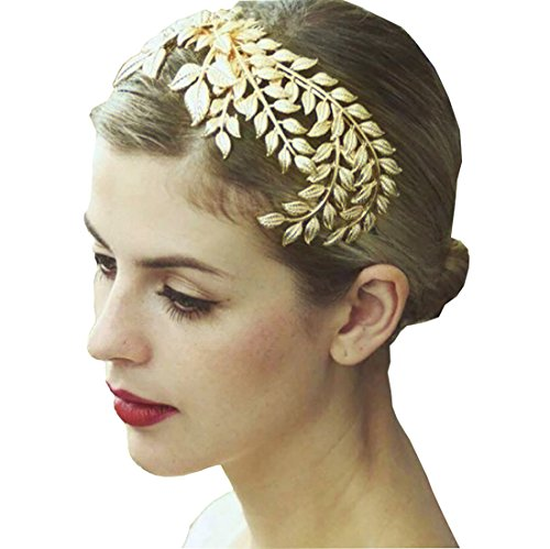 Easy Costumes Homemade Adults (Bella-Vogue Lady Gold-tone Crown Wedding Bridal Head Wear Hair comb Headdress Party)