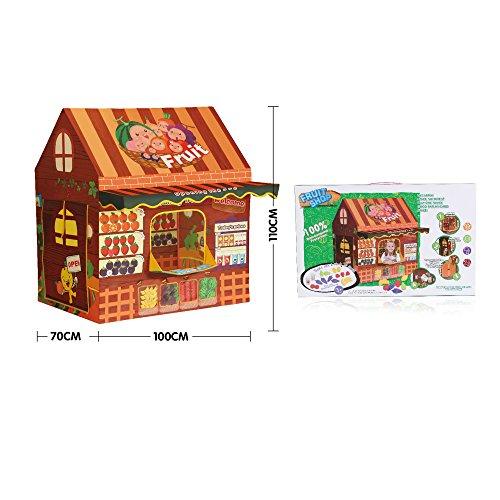 Fruit House - iPlay, iLearn kids tent Kids Outdoor Indoor Fun Play Big Tent Playhouse, 43.3 x 39.3-Inch
