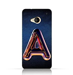 Htc M7 TPU Silicone Case with Chrome Night Letter A Design