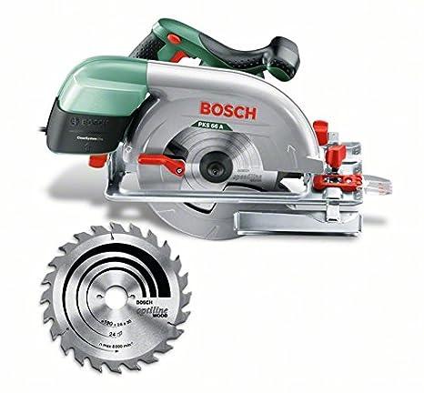 Bosch Kreissä ge PKS 66 AF (Kreissä geblatt Holz, Parallelanschlag, Fü hrungsschiene, Karton, 1600 Watt) 603502000