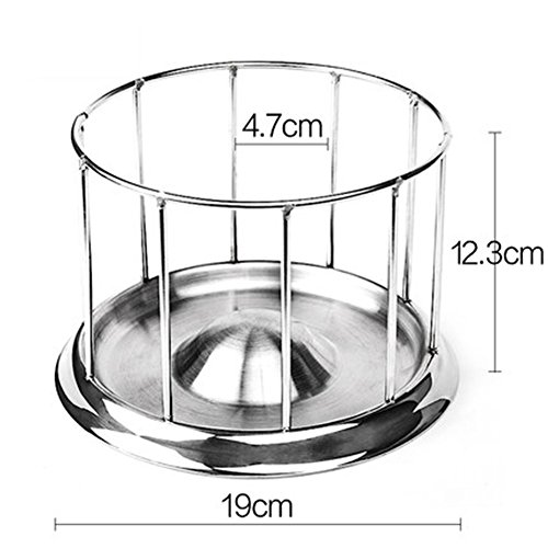Cibeat cat Bowls, Stainless Steel Pet Tortoise Food Bowl Turtle Water Food Tray Food Dispenser Feeding Tool