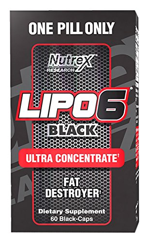 Nutrex Research Lipo-6 Black Ultra Concentrate Supplement, 60 Count by Nutrex