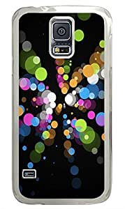 Samsung Galaxy S5 Patterns Color Dots PC Custom Samsung Galaxy S5 Case Cover Transparent